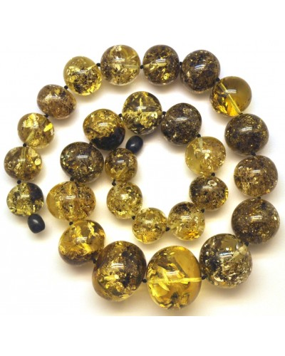 Baroque beads short Baltic amber necklace 100 g.